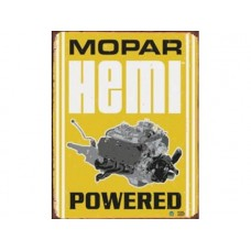 Mopar-Hemi Powered tin metal sign