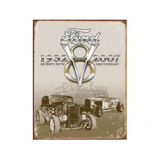 Ford Deuce 75th Anniversary tin metal sign