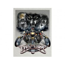 Live to Ride-Wolves tin metal sign