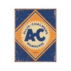 Allis Chalmers Logo tin metal sign