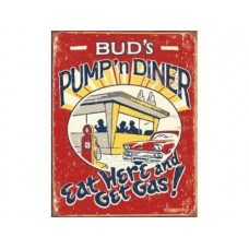 Schoenberg Pump n Diner tin metal sign