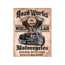 Legends-Road Works tin metal sign