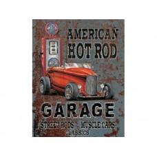 Legends-American Hot Rod tin metal sign