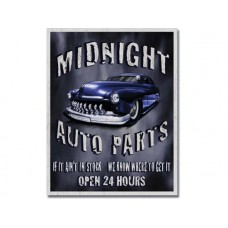Legends-Midnight Auto Parts tin metal sign