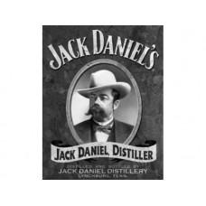 Jack Daniels Portrait tin metal sign