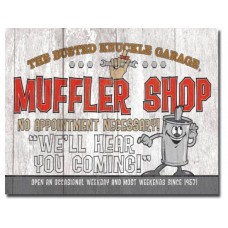 Busted Knuckle-Muffler Shop tin metal sign