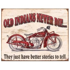 Indian-Better Stories tin metal sign