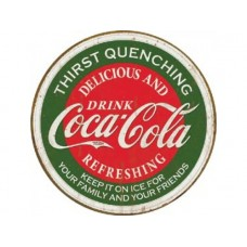 Coke-Thirst Quenching tin metal sign