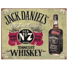 Jack Daniels Hand Made tin metal sign