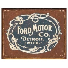Ford Historic Logo tin metal sign