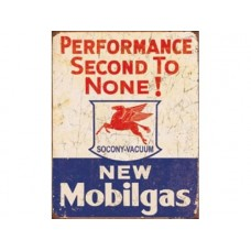 Mobilgas-2nd to none tin metal sign