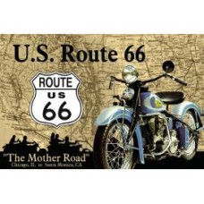 The Mother Road Route 66 tin metal sign