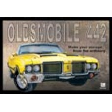 Oldsmobile 442 tin metal sign