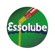 Essolube large round tin metal sign