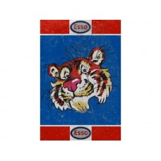 Esso Tiger Rectangle Large tin metal sign