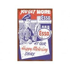 Esso You Get More tin metal sign