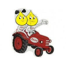 Esso tractor Mr & Mrs Drop tin metal sign