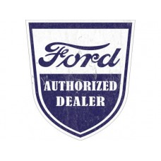 Ford Authorised Shield tin metal sign