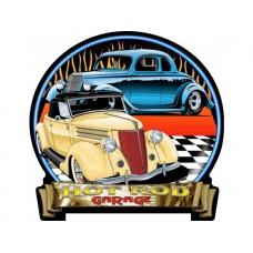 HotRod Garage 35-36 Ford tin metal sign