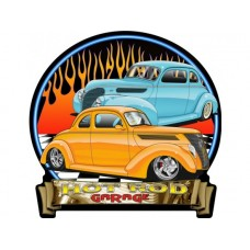 HotRod Garage 37-38 Ford tin metal sign