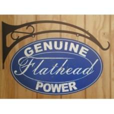 Genuine Flathead Power tin metal sign