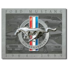 Mustang 35th Anniversary tin metal sign