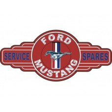 Ford Mustang Service Spares tin metal sign