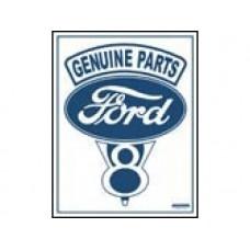 Ford V-8 tin metal sign