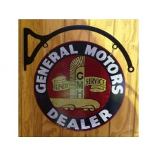 General Motors Dealer and hanger round tin metal sign