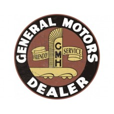 GMH Holden Large Round tin metal sign