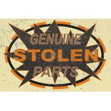 Genuine Stolen Parts Rectangle tin metal sign