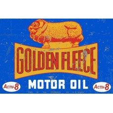 Golden Fleece Active 8 tin metal sign