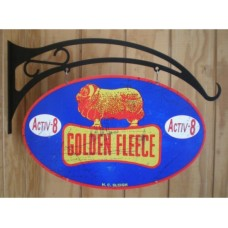 Golden Fleece double sided tin metal sign