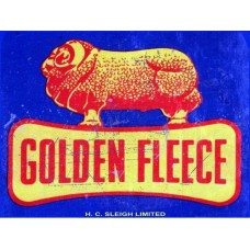 Golden Fleece tin metal sign