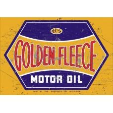 Golden Fleece Motor Oil tin metal sign