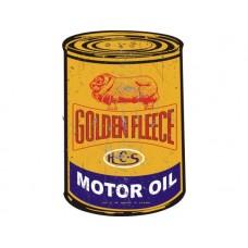 Golden Fleece Oil Can tin metal sign
