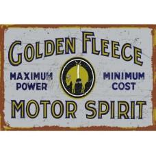 Golden Fleece Motor Spirit tin metal sign