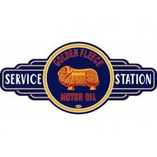 Golden Fleece Service Station sign tin metal sign