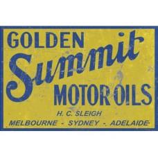 Golden Summit Rectangle Large tin metal sign