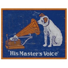 His Masters Voice tin metal sign
