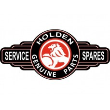 Holden Black/Red Service Station tin metal sign