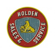 Holden Sales and Service  large round  tin metal sign