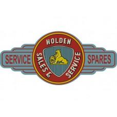 Holden Sales Service Station tin metal sign