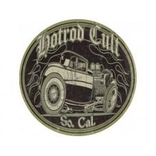 Hot Rod Cult Skull tin metal sign