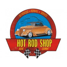 Hot Rod Shop '36 Roadster Cutout tin metal sign