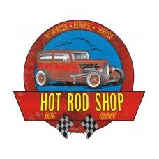 Hot Rod Garage '32 Coupe Cutout tin metal sign