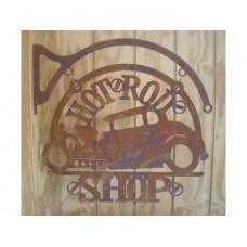 Laser Cut Rusty Hot Rod Shop tin metal sign