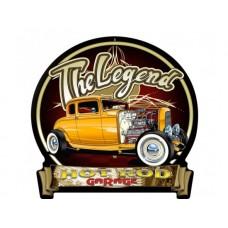 Deuce Legends 1932 Banner tin metal sign