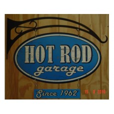 Hot Rod Garage Double Sided tin metal sign
