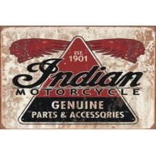 Indian Motocycles tin metal sign